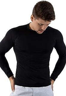 Camisa Térmica Segunda Pele Praia Masculina Proteção Uv Preta