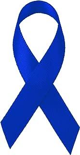 LaRibbons Royal Blue Satin Awareness Ribbons - Bag of 200 Fabric Ribbons/Safty Pins