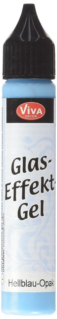 Viva Decor Glass Effect Gel, 25ml, Light Blue Opaque
