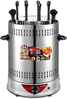 Household Vertical Grill - Fat Free Rotisserie Grilling, Kebabs/Roast Chicken & Ducks, Detachable Fully Automatic Rotary Ovens, 800W/1350W