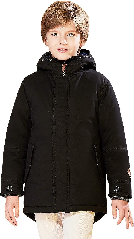 SOLOCOTE Boys Lowest price challenge Winter Coat San Jose Mall Heavyweight Sherpa Hooded Warm Jacket