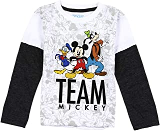 Mickey Mouse Toddler Little Boys Team Mickey Long Sleeve Graphic Shirt