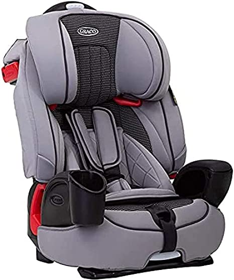 Graco Nautilus Harnessed Booster Car Seat, Group 1/2/3 (approx. 1 to 12 Years, 9-36 kg),Steeple Gray: image