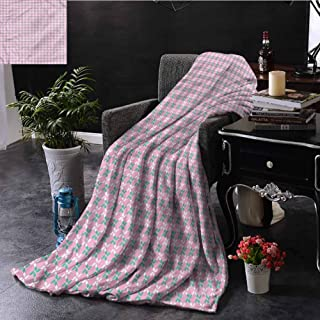 Floral Beach Throw Blanket Spring Flowers Chain Dorm Bed Baby Cot Traveling Picnic W70 xL84