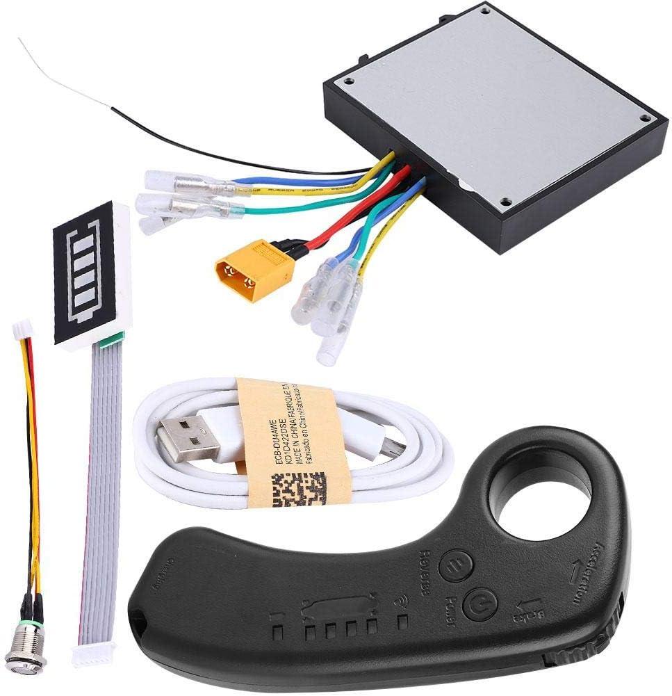 Kit ESC para monopatín eléctrico, 430W 36V Dual Drive Longboard eléctrico Control sustituto Mainboard Motor sin escobillas con control remoto, indicador LED, 4 modos de velocidad para monopatín DIY