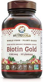 Nutrigold Whole-Food Biotin Gold, 2, 500 Mcg, 120 Plantcaps