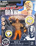 Jakks Pacific WWE Wrestling Build N' Brawl Series 2 Mini 4 Inch Action Figure Rey Mysterio [Ring Bas...