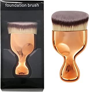 OUO Kabuki Foundation Brush, Flat Top Powder Makeup Brush, Premium Quality Synthetic Dense Bristles Face Make Up Tool For Blending Liquid Cream or Flawless Powder Cosmetics - Buffing, Stippling (A)