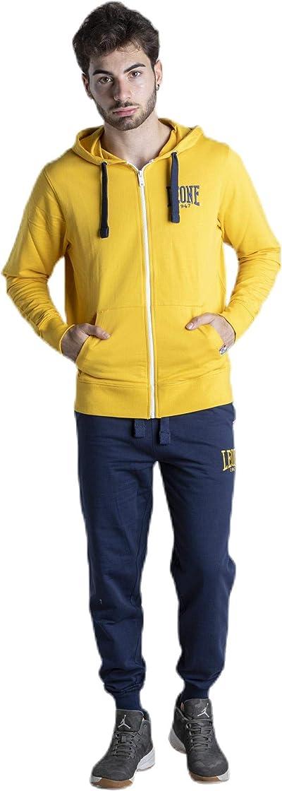Tuta boxe leone 1947 felpa con cappuccio zip e pantalone da uomo jumpsuits set B08M5RX3KL