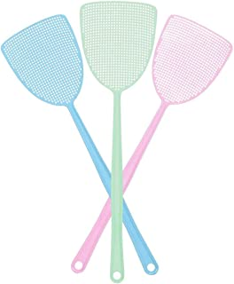 THERESA Fly Swatter, Strong Flexible Manual Swat Set Pest Control, Assorted Colors (3 Pack) (3 Colors)