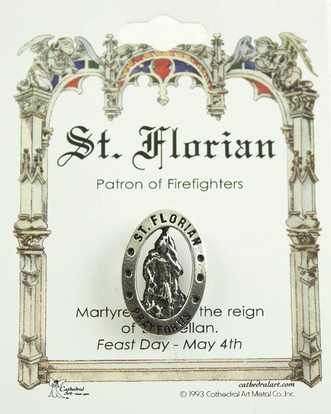 Cathedral Art TS39P St. Florian Patron of Firefighters Pin