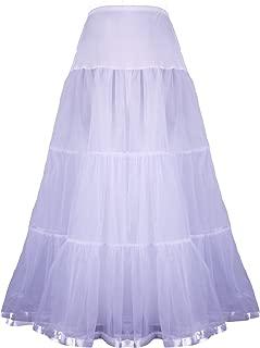 Women's Floor Length Wedding Petticoat Long Underskirt for Formal Dress S-3XL