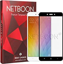 NETBOON Tempered Glass Screen Protector Full Coverage Glass Guard for Xiaomi Redmi 4 - Black