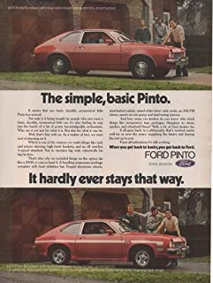 Magazine Print ad: Red 1973 Ford Pinto Runabout, Accent Group, Hot Pants Kit, Spoilers, Tape Stripe,