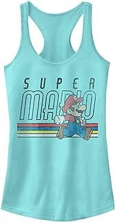 Nintendo Women's Super Mario Retro Throwback Ideal Racerback Graphic Tank Top