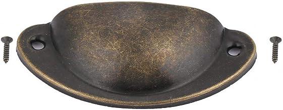 Metalllådeskåp Möbelknopp Antik skalhandtag Handtagmontering, skalform Knoppuppsättning för garderobslåddörr(Bronze)