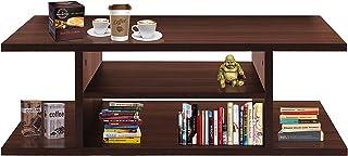 Klaxon Nicos Engineered Wood Coffee Table/Centre Table, Tea Table (Walnut)