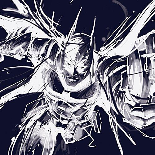 Batman Arkham WDC95388 Toile Imprimée, Polyester, Multicolore, 40 x 40 cm