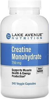 Lake Avenue Nutrition Creatine Monohydrate, 750 mg, 240 Veggie Capsules
