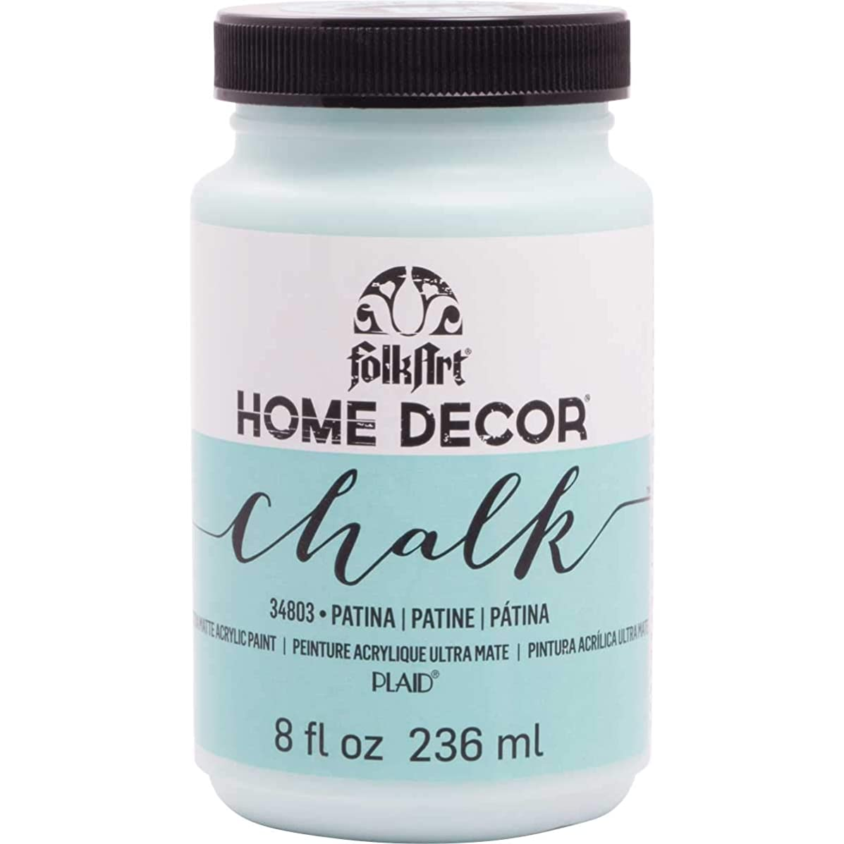FolkArt 34803 Home Decor Chalk Furniture & Craft Paint in Assorted Colors, 8 Ounce, Patina