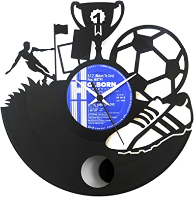 Soccer Gift idea Football player idea Soccer clock Vinyl Clock Wall clock with pendulum Soccer team