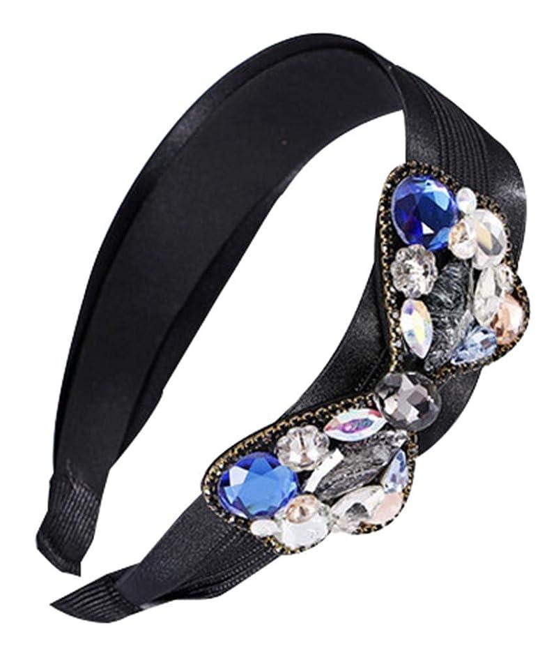 く敏感な安息ファッションクリスタルレースヘアアクセサリーヘッドバンドアンチスキッドプレッシャーヘアフープ