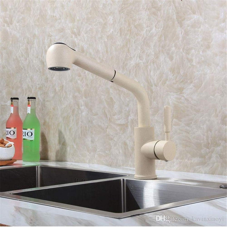 Willsego Wasserhahn Farbe herausziehen Küchen-Hahn-Mischbatterie-Plattform angebrachtes einzelnes Loch Griff (Farbe   -, Gre   -)