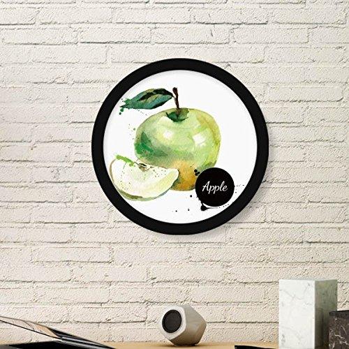 DIYthinker Apple Watercolour Fruit Tasty Health Round Picture Frame Art...