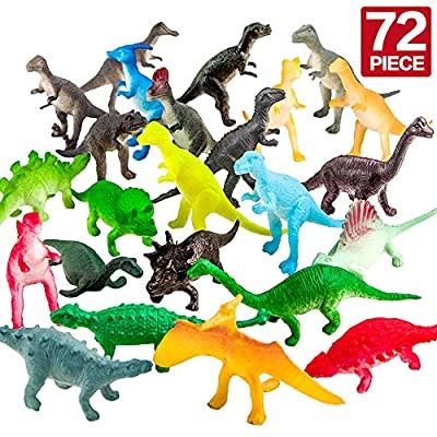 ValeforToy 72 Piece Mini Dinosaur Toy Party Set