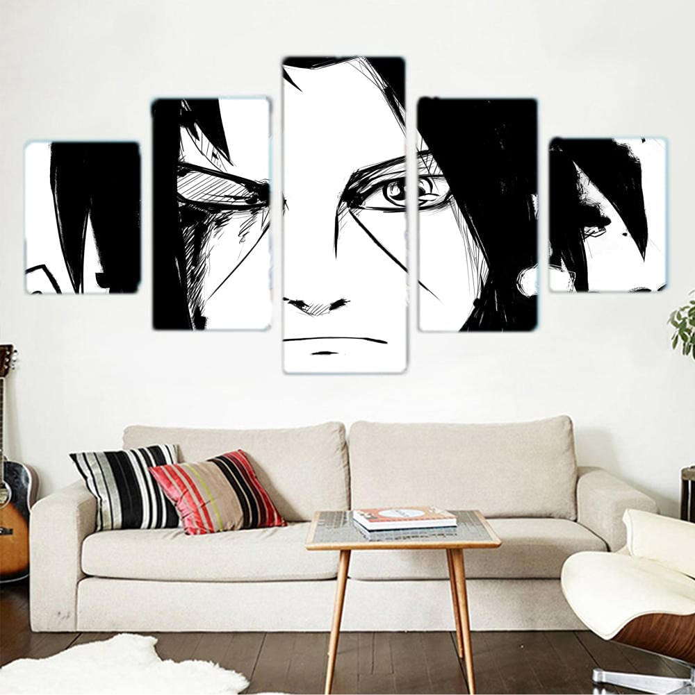 New sales 5 Piece Naruto Figure Anime Poster Paintings Popular products for Wall Art Canvas