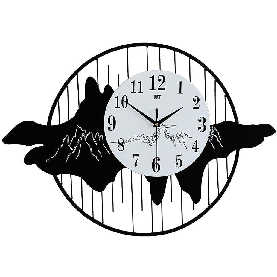 顕現競争慣れている北ヨーロッパ簡単クリエイティブ壁時計山形サイレントクロック金属電子クォーツ時計家の装飾壁時計