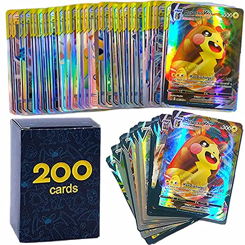 200pcs Pokemon Cards GX EX V VMAX MEGA Booster Box English Game Battle...