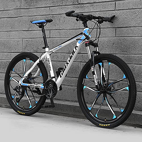 MTB Road Bicycle With Double Disc Brakes For Mens And Womens Cycling In Mountain Wasteland Roads Cities MTB Mountain Bike 26in 21 Speed Height Adjustable