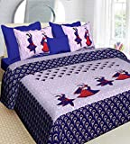 Ealth Kart 100% Cotton Comfort Rajasthani Jaipuri Traditional King Size Double Bed Bedsheet with 2...