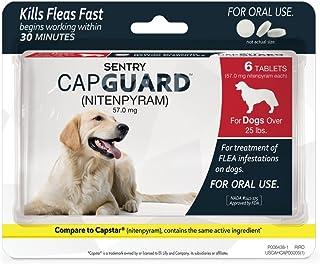 SENTRY Capguard (nitenpyram) Oral Flea Control Medication, 25 lbs and Over, 6 count