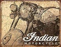 インドのオートバイ-アンティークティンサイン