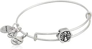 Alex and Ani Women's Path of Life Symbol Bead Charm Bangle, Rafaelian Silver