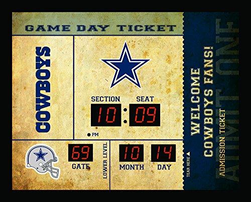 Team Sports America Dallas Cowboys Bluetooth Scoreboard Wall Clock