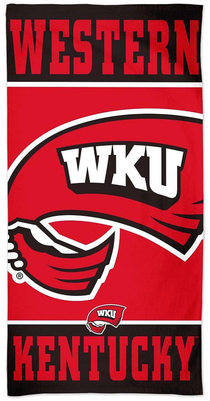 カップルバケットピクニックをするWestern Kentucky WKU Hilltoppersプレミアムビーチタオルwith Spectraグラフィックス30?x 60?cm