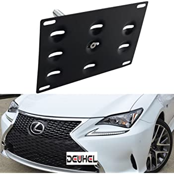 EOS Plate For 15-Up Lexus RC F Front Bumper Tow Hook License Mount Bracket