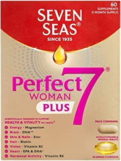 Seven Seas Perfect7 Woman Multivitamin and Mineral Tablet plus Omega-3 capsule (60 capsules)