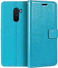 Xiaomi Pocophone F1 Wallet Case, Premium PU Leather Magnetic Flip Case Cover with Card Holder and Kickstand for Xiaomi Poc...