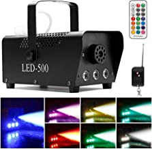 2019 Upgraded Smoke Machine with Lights, softeen 500W Party Fog Machine with 2 Wireless Remote Controls, Fogging Machine with Colorful LED Light Effect for Holiday Parties Wedding Christmas Halloween