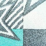carpet city Kinderteppich Flachflor Bueno Sterne Muster Mint Türkis Konturenschnitt Glanzgarn Kinderzimmer; Größe: 160x230 cm - 2