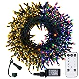 Christmas String Lights - 98FT 300 LED Twinkle Fairy Lights String with 8 Light Modes for Christmas Trees Garland Wreath Wedding Indoor Outdoor Holiday Decorations - Warm white to Multicolor
