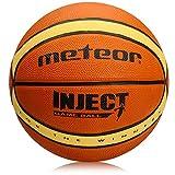 Meteor Palla Basket Pallone da Basket Palla da Basket Basketball Dimensione 5 6 7 Bambini Giovani Adulti da Basket Ideale per Formazione Pallacanestro -Dimensione 5, 6, 7 - Inject (5, Inject)