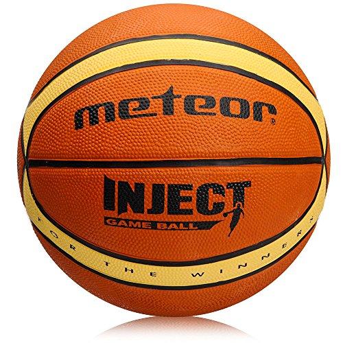 meteor® Inject: Kinder & Jugend Basketball Größe #6, Braun und Beige ideal auf die Kinderhände von 8-14 Jährigen abgestimmt, idealer Basketball für Ausbildung
