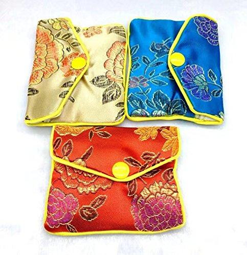 Damen-Schmuckbeutel aus Seide, Mehrfarbig