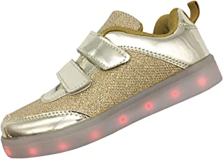 HappyEva LED Shoes for Kids Boys Girls USB Charging Light up Shoes Sequins Sneakers
