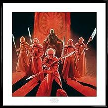 1art1 Star Wars Póster Impresión Artística con Marco (Plástico) - Episodio VIII Los Últimos Jedi, Snoke Guardia Pretoriana De Élite (40 x 40cm)
